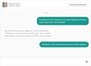 Juris Correspondente - Novas Funcionalidades - Chat